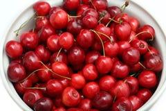 Freshly picked heap of cherries Stock Photo