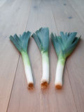 Freshly Picked Leeks Royalty Free Stock Image
