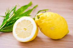 Freshly picked lemons Royalty Free Stock Photos