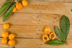 Freshly picked loquats Royalty Free Stock Photos