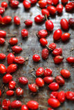 Freshly picked organic red briar lay on the table dried, vertica. L image Royalty Free Stock Photos