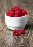 Freshly picked ripe red raspberries Royalty Free Stock Image
