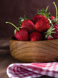 Freshly picked strawberries Stock Images