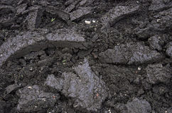Freshly ploughed topsoil Stock Image
