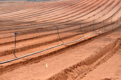 Freshly plowed farm field Royalty Free Stock Image