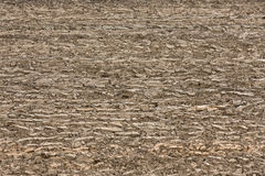 Freshly plowed field background Royalty Free Stock Photo
