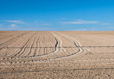 Freshly plowed field Royalty Free Stock Photography