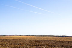 Freshly plowed field Royalty Free Stock Photos