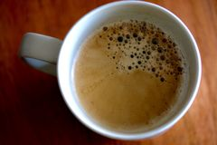 Freshly Poured Black Coffee Royalty Free Stock Photography