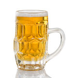 Freshly poured golden beer ready to drink Stock Photos