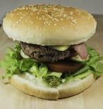 Freshly Prepard Hamburger Stock Photo