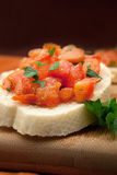 Freshly Prepared Bruschetta Royalty Free Stock Photo