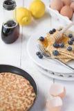 Freshly prepared crepes Stock Photo
