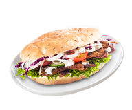 Freshly prepared healthy doner Stock Photography