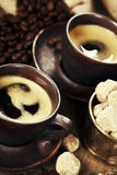 Freshly prepared italian espresso royalty free stock photography
