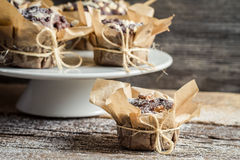 Freshly prepared muffin ready to eat Stock Image