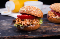 Freshly prepared sloppy joe sandwich Royalty Free Stock Image