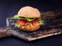 Freshly prepared sloppy joe sandwich Royalty Free Stock Photos