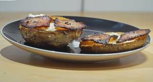 Freshly prepared toasted bun Royalty Free Stock Photo