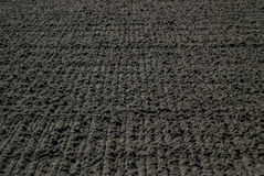 Freshly Raked Dirt at a Horse Racing Track Royalty Free Stock Images