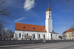 Freshly renovated church in Bavaria, Germany. Renovated small church in the village of Steinhoering, Bavaria, Germany Royalty Free Stock Image