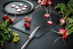 Freshly ripped radishes Stock Photography