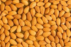 Freshly roasted almonds arranged Royalty Free Stock Photo