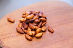 Freshly roasted almonds Royalty Free Stock Image