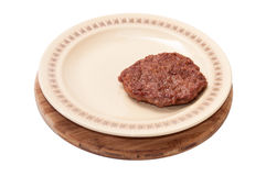 Freshly roasted burger served on a plate Stock Photography