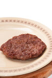 Freshly roasted burger served on a plate Royalty Free Stock Photo