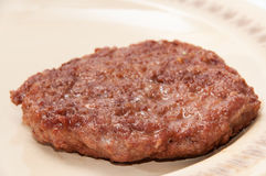 Freshly roasted burger served on a plate Royalty Free Stock Image