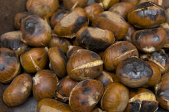 Freshly roasted chestnuts Royalty Free Stock Photography
