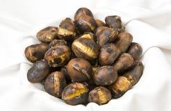 Freshly roasted chestnuts royalty free stock photos