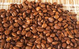 Freshly roasted coffee beans Stock Photo