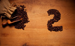Freshly Roasted Coffee Beans 2 Royalty Free Stock Images