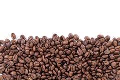 Freshly roasted coffee beans border Stock Photos