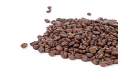Freshly roasted coffee beans border Royalty Free Stock Photo