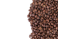 Freshly roasted coffee beans border Royalty Free Stock Photography
