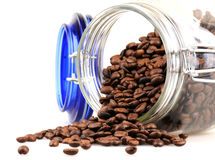 Freshly roasted coffee beans in a pot Royalty Free Stock Photography