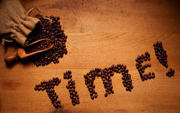 Freshly Roasted Coffee Beans Time Stock Photo