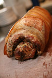 Freshly roasted pork loin Royalty Free Stock Photo