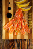 Freshly Salted Salmon Royalty Free Stock Photo