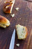 Salty scones with ramsons Royalty Free Stock Image