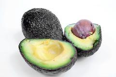 Freshly sliced avocado isolated on white Royalty Free Stock Photography
