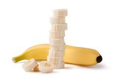 Freshly sliced bananas Stock Image