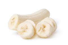 Freshly sliced bananas Stock Photography