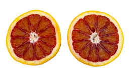 Freshly sliced blood oranges Royalty Free Stock Image