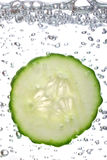 Freshly sliced cucumber Stock Photo