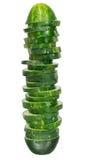 Freshly sliced cucumber Stock Image