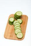 Freshly sliced cucumber Stock Photos